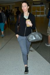 Whitney Cummings Airport Style - Arriving to LAX, June 2015