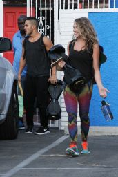 Alexa Pena Vega at the DWTS Studio in Hollywood, August 2015