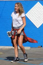 Alexa Pena Vega in Shorts - DWTS Studio in Hollywood, August 2015
