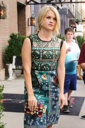 Alice Eve - Leaving the Bowery Hotel in New York City, August 2015