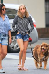 Amanda Seyfried - Out and About with Finn in New York, August 2015