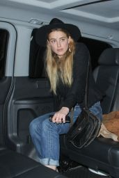 Amber Heard out in London, August 2015