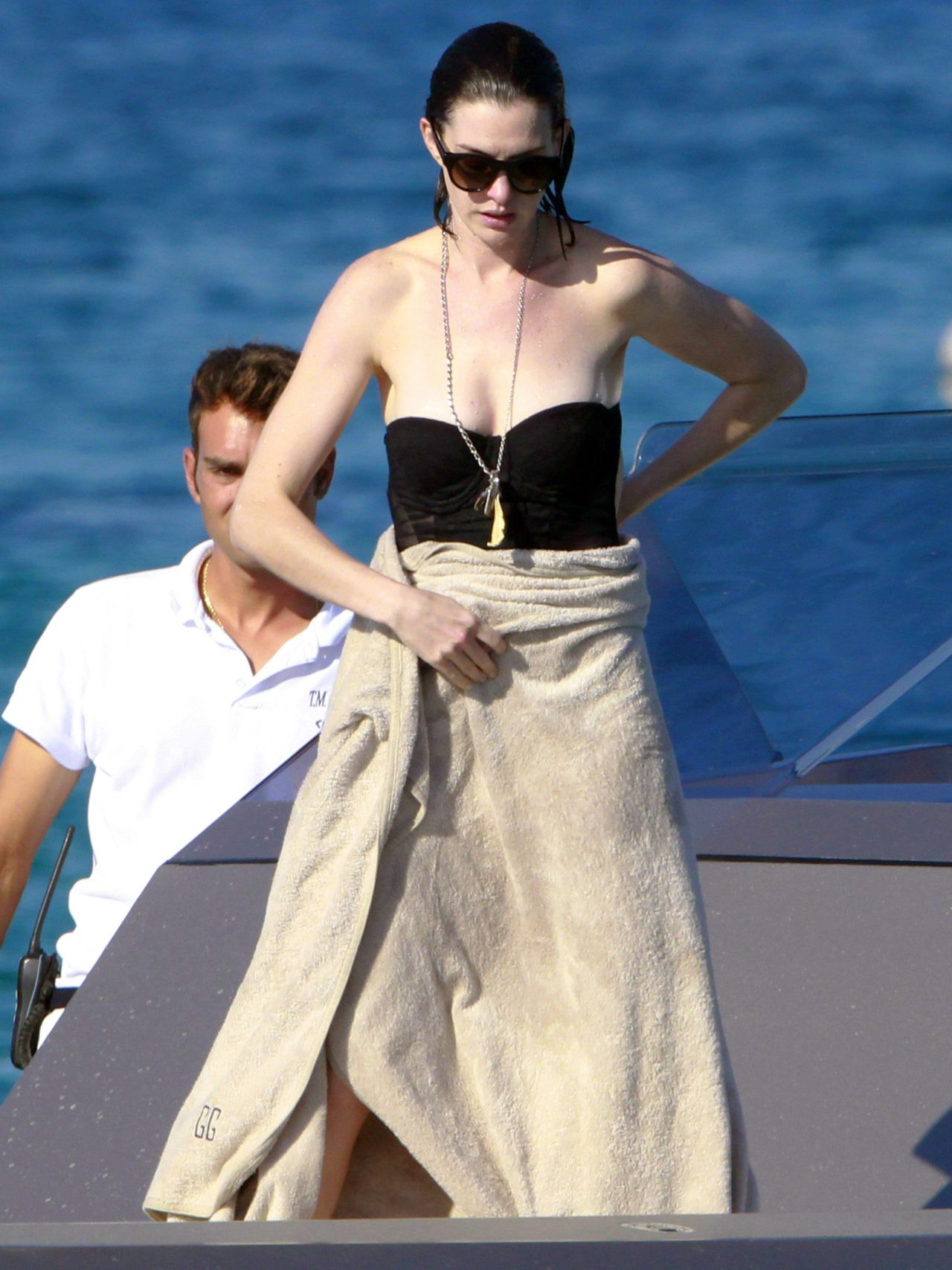 Anne Hathaway Wearing A Bikini In Ibiza August 2015