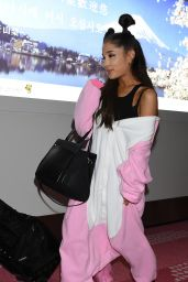 Ariana Grande Airport Style - at Haneda Airport in Tokyo, August 2015