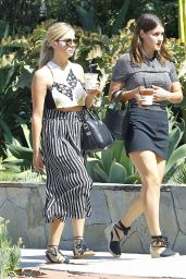 Ashley Benson - Dining Out With a Leggy Friend in Los Angeles, July 2015