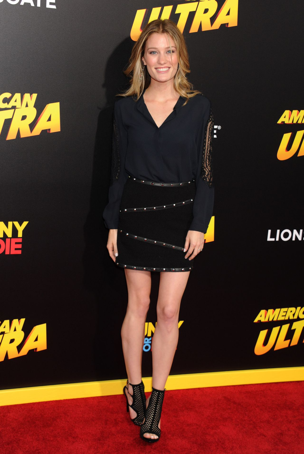 Ashley Hinshaw American Ultra Premiere In Los Angeles