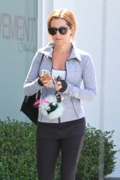Ashley Tisdale in Leggings - Leaving Rise Movement in West Hollywood, August 2015