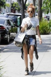 Ashley Tisdale - Shopping in Beverly Hills, August 2015
