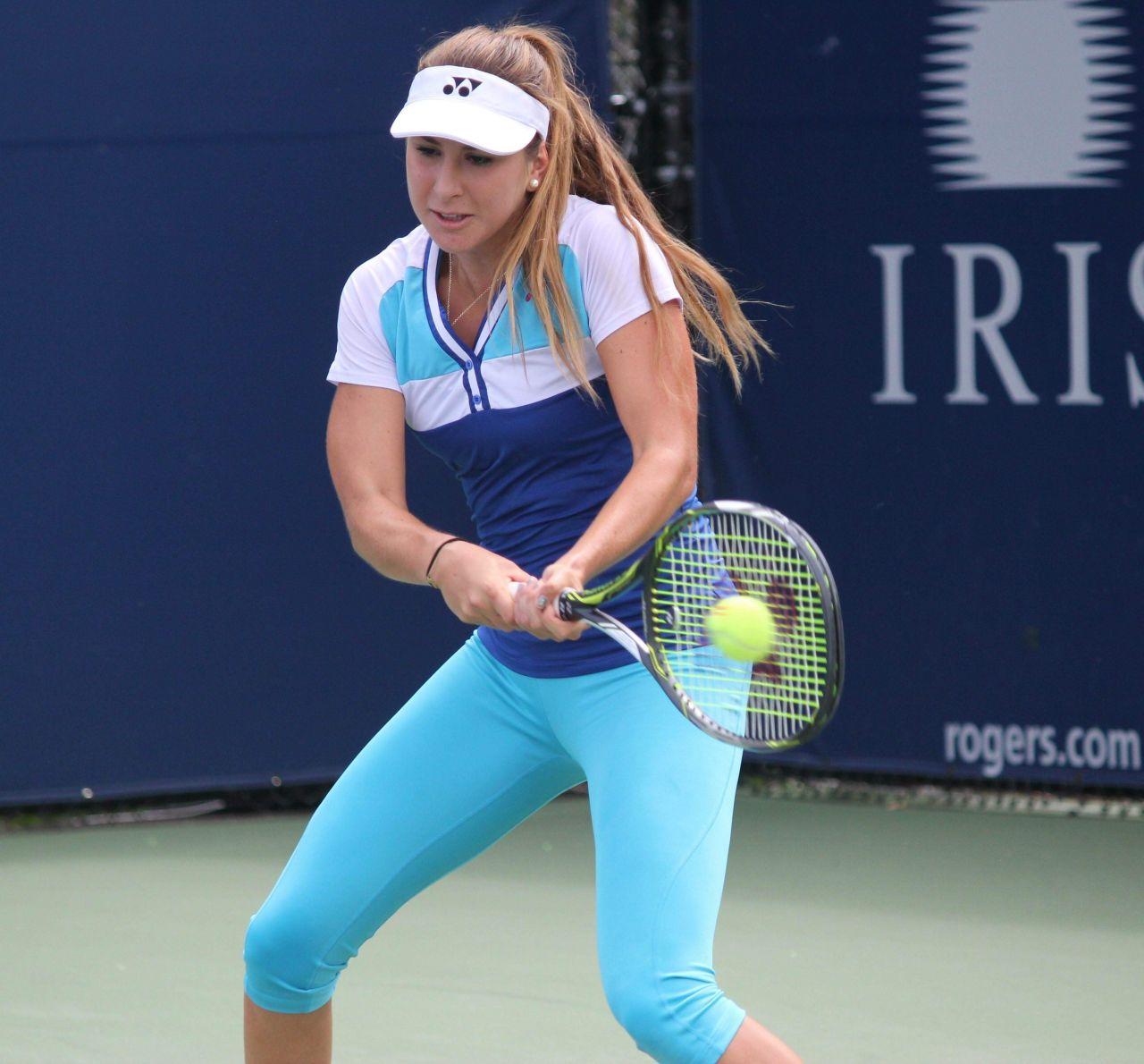 Belinda Bencic - Taining During Rogers Cup in Toronto
