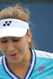 Belinda Bencic - Taining During Rogers Cup in Toronto. August 2015