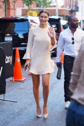 Bella Hadid - Leggy and Breezy in a Minidress in NYC, August 2015