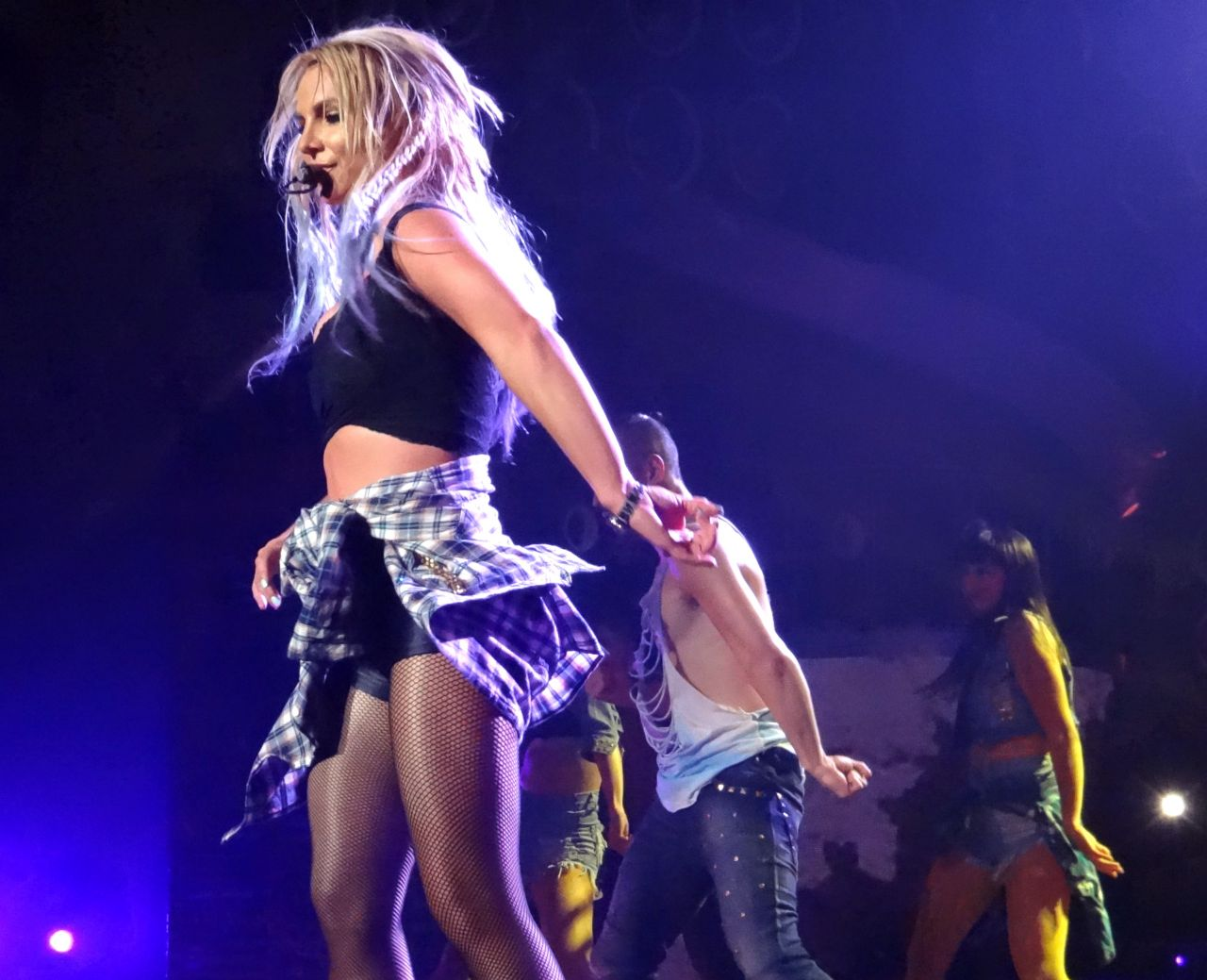 Britney Spears Performing at Planet Hollywood in Las Vegas, August ...