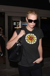 Charlize Theron Arriving at LAX Airport, August 2015