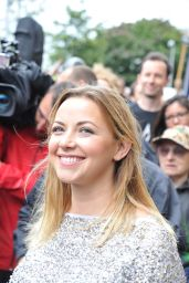 Charlotte Church Protests Arctic Drilling in Front of Shell Centre in London