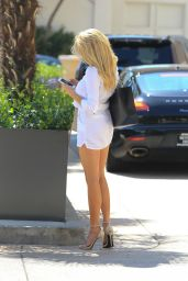 Charlotte McKinney Hot in Mini Dress - Out in LA, July 2015