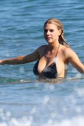 Charlotte McKinney in Bikini on a Beach in Malibu, August 2015
