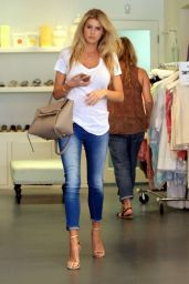 Charlotte McKinney in Jeans Shopping in Beverly Hills, August 2015