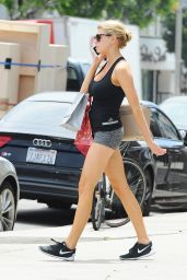 Charlotte McKinney Leggy in Shorts  - Out in LA, August 2015