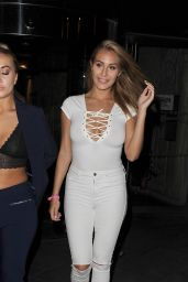 Chloe Goodman - Leaving the Gilgamesh Restaurant - London, August 2015