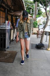 Chloe Moretz Leggy in Jeans Shorts – Out in LA, August 2015