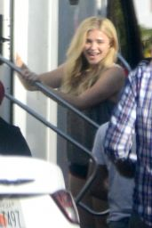 Chloe Moretz on the Set for the New Movie Bad Neighbors 2 - August 2015