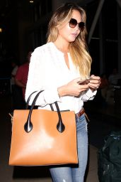 Chrissy Teigen Airport Style - at LAX Airport, August 2015