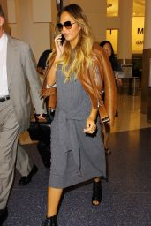 Chrissy Teigen at LAX Airport, August 2015