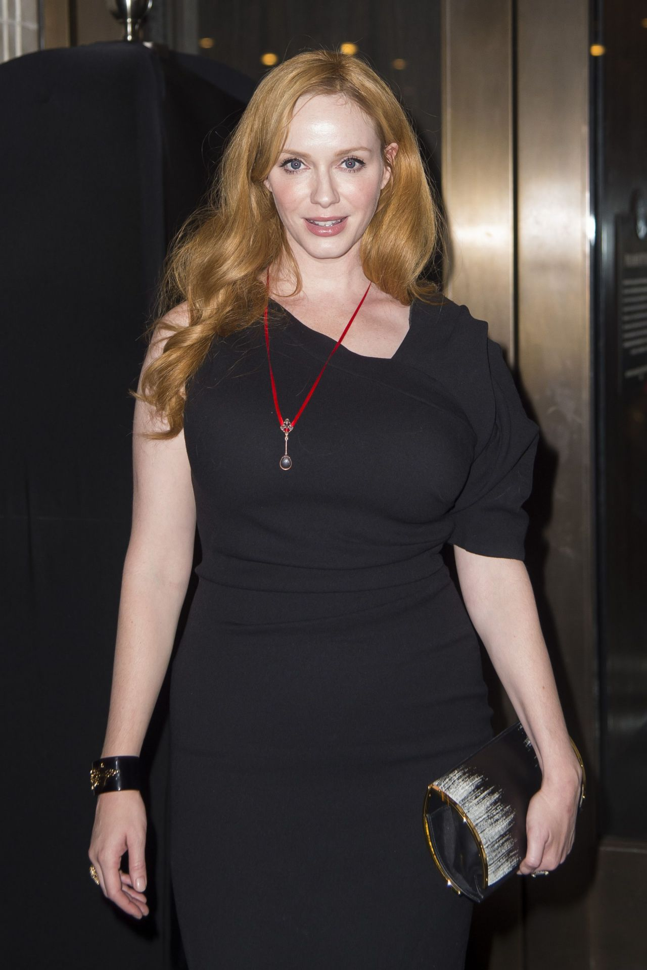 Christina Hendricks Out To See Queen Of The Night In New