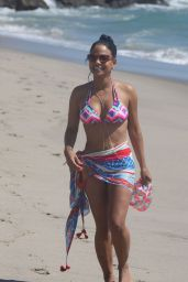 Christina Milian in a Bikini on the Set of Grandfathered in Malibu