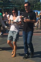 Courteney Cox at Disneyland, August 2015