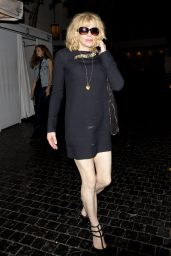 Courtney Love Leaving the Chateau Marmont Hotel in West Hollywood, August 2015