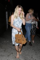 Dakota Fanning - Going to Dinner in LA, August 2015