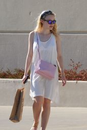 Dakota Fanning Out in Los Angeles, August 2015