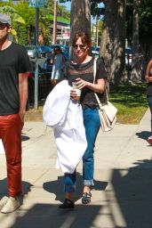 Dakota Johnson Street Style - Shopping in West Hollywood, August 2015