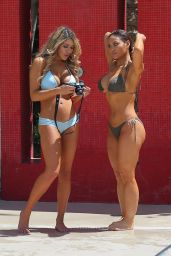Daphne Joy and Shantal Zales – Bikini Candids in Las Vegas, August 2015