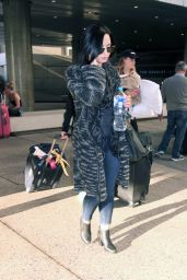 Demi Lovato at LAX Airport, August 2015