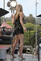 Denise Richards on the Set of
