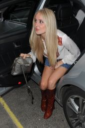 Diana Vickers in Mini Skirt - Arrives for Juicy Couture
