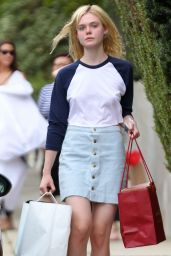 Elle Fanning - Out in Hollywood, August 2015