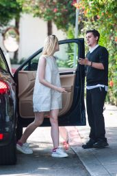 Elle Fanning Style - Outside the Chateau Marmont in West Hollywood, August 2015