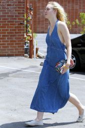 Elle Fanning Summer Style - Out in Beverly Hills, August 2015