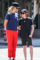 Ellen Page With Her Girlfriend Samantha Thomas in New York CIty, August 2015