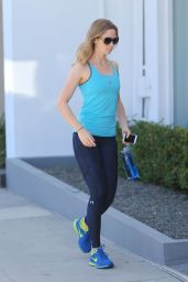 Emily Blunt Booty in Tights at a Gym in West Hollywood - August 2015