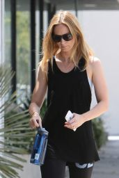 Emily Blunt in Leggings - Going to Gym in West Hollywood, August 2015