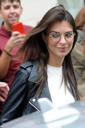Emily Ratajkowski in glasses - Leaving Her Hotel in London, August 2015