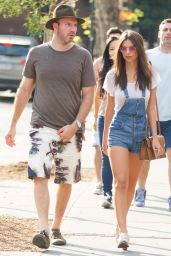 Emily Ratajkowski Street Style - Out in New York City, August 2015