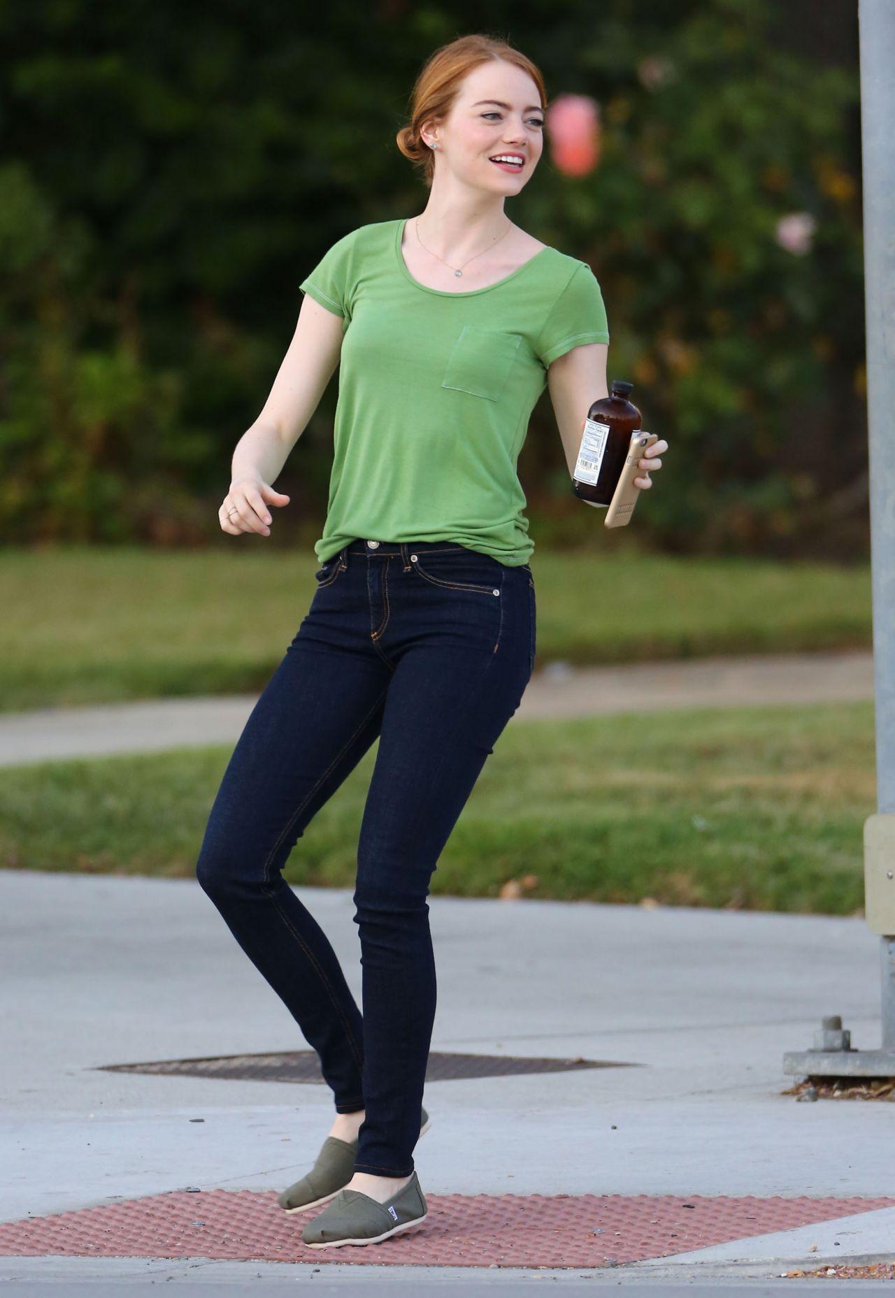 Emma Stone 39 La La Land 39 Set In Los Angeles August 2015