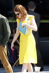 Emma Stone on the Set of