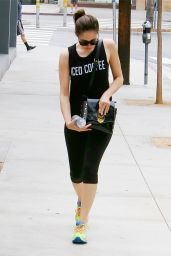 Emmy Rossum Going to the Gym in Los Angeles, August 2015