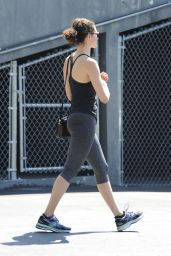 Emmy Rossum in Leggings – Out in Beverly Hills, August 2015